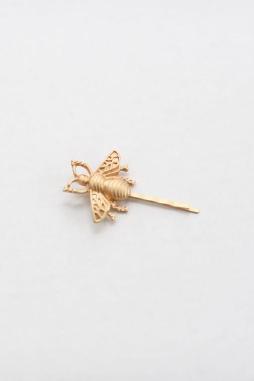 Gold Bee Hair Pin