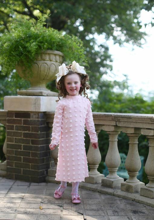 Little Pom Pom Dress (Pink)