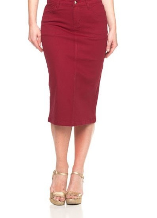 Burgundy Essential Skirt