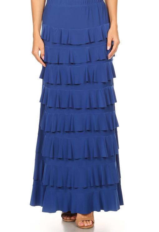 Lovely Ruffle Skirt (Blue)