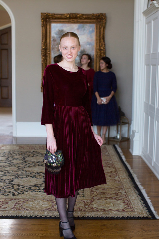 Velvet Couture Dress