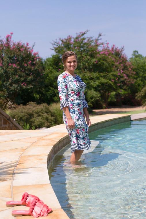 Tropical Pizzazz Swim Dress