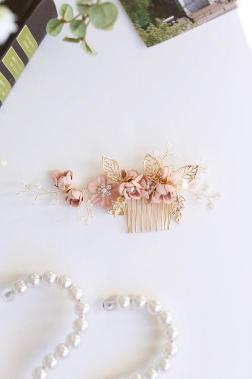 Rose Vintage Blooms Comb