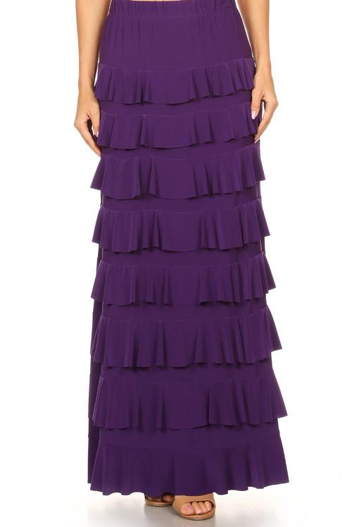 Lovely Ruffle Skirt (Purple)