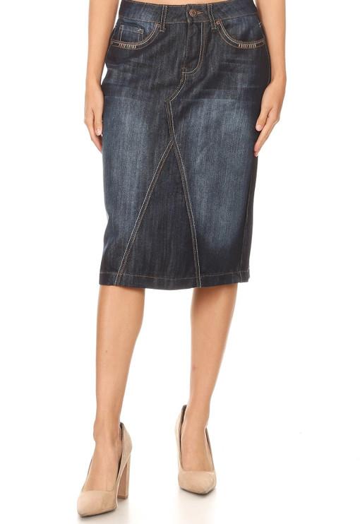 Rustic Denim Skirt