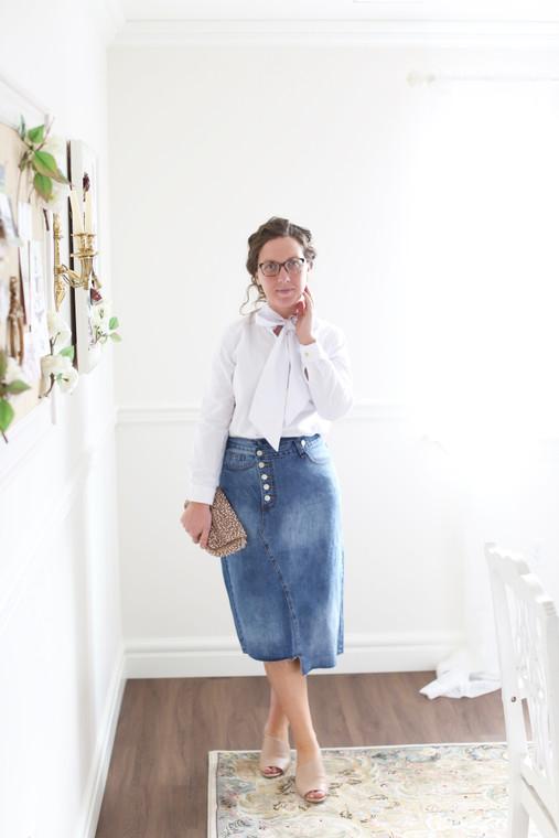 Funky Denim Skirt