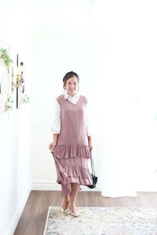 Ruffled Rose Dress