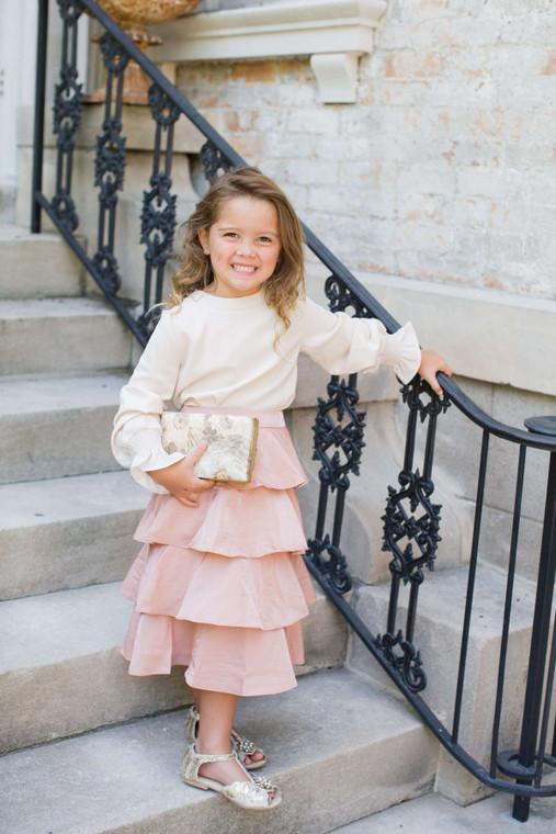 Twirling in Tinsel Skirt for Girls