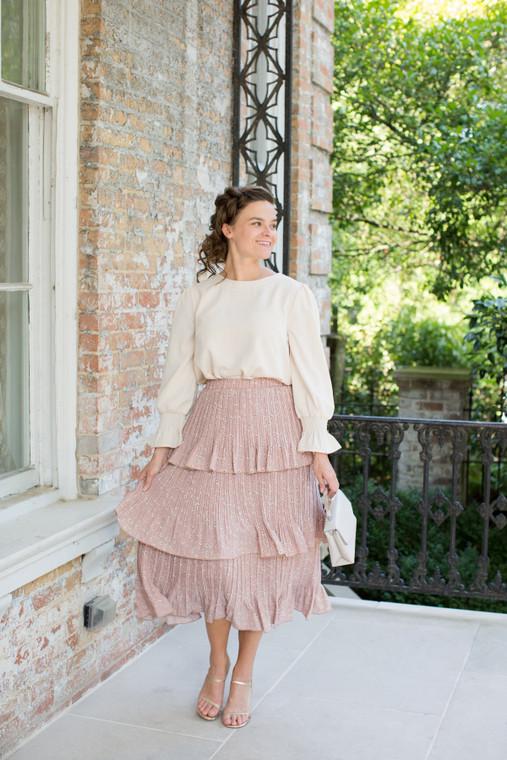 Peony Pleated Skirt