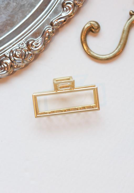 Rectangle Gold Hair Clip