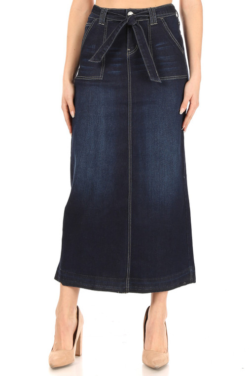 Bow-utiful Denim Skirt
