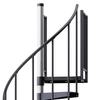 Reroute Black 3'6 Steel Spiral Stair Kit