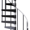 "Reroute Black 3'6"" Steel Spiral Stair Kit"