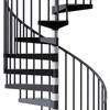 Reroute Black 5' Steel Spiral Stair Kit