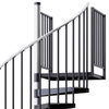 Reroute Black 5' Steel Spiral Stair Kit