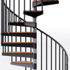 solid wood treads on code in-stock spiral stair