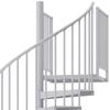 white aluminum handrail spiral staircase kit
