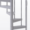 all grey steel spiral staircase with adjustable height