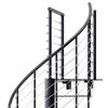 Hayden Black 3'6 Steel Spiral Stair Kit