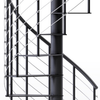 "Hayden Black 3'6"" Steel Spiral Stair Kit"