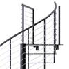 modern spiral stair kit with line rail
