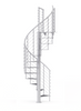 white spiral staircase with anti slip covers