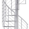 modern white spiral staircase with anti slip tread covers