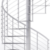 white code compliant spiral staircase with anti slip covers