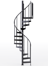 Shop The Condor Black 3 6 Steel Spiral Stair Kit