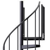 black aluminum handrail spiral staircase kit