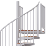 code white steel with wood steps spiral staircase with adjustable height