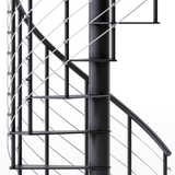 Hayden Black 3'6 Steel Spiral Stair Kit