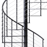 streamline profile black all steel spiral stair kit
