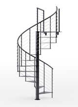 code compliant all steel black spiral staircase kit