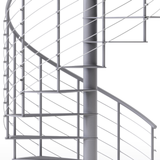 gray code compliant spiral staircase with anti slip covers