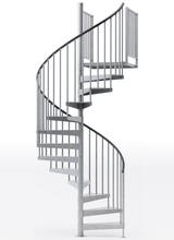 weatherproof 60 inch code diameter spiral staircase