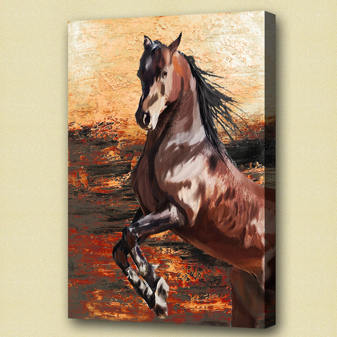 Buy Galloping Stallion By Community Artists Group Rs 6390 Code 51horse17 2030 Shop Art Paintings Online In India