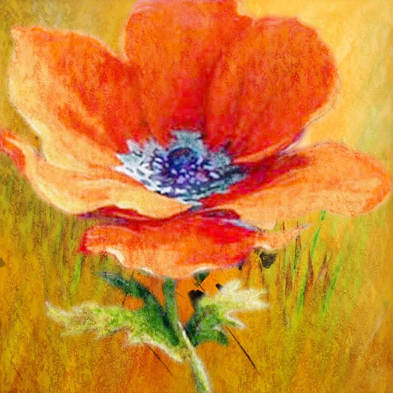 Buy Poppy Flower 3 By Community Artists Group Rs 7290 Code
