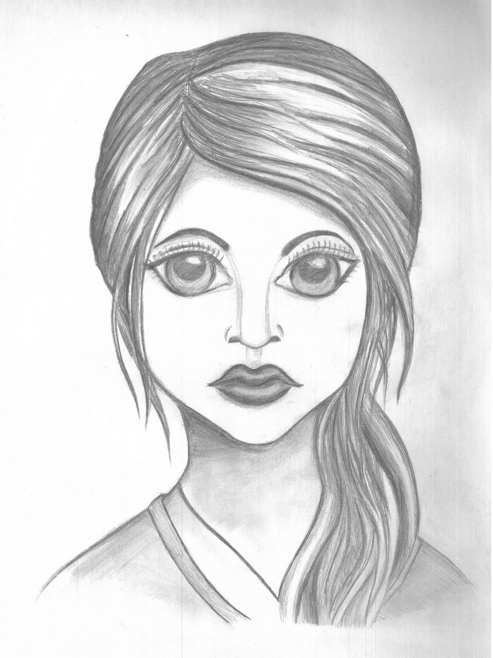 Eyes love beautiful girl sketch pencilbeautiful eyesart 1926 15988