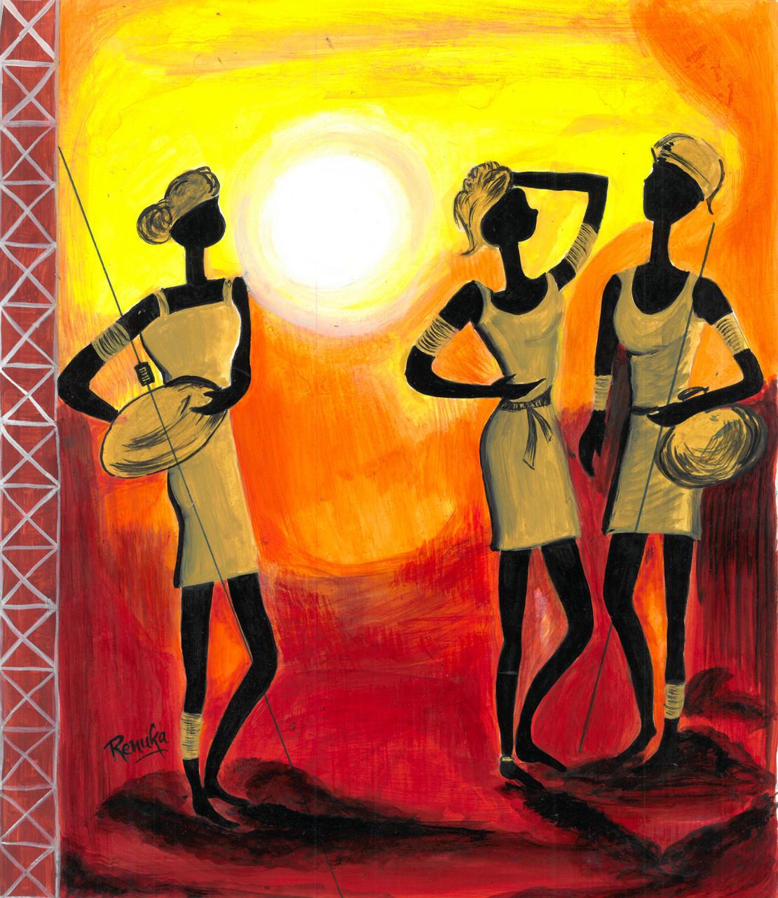Buy Warli Art Handmade Painting By Renuka Bhandarkar Code Art 1926 15979 Paintings For Sale Online In India