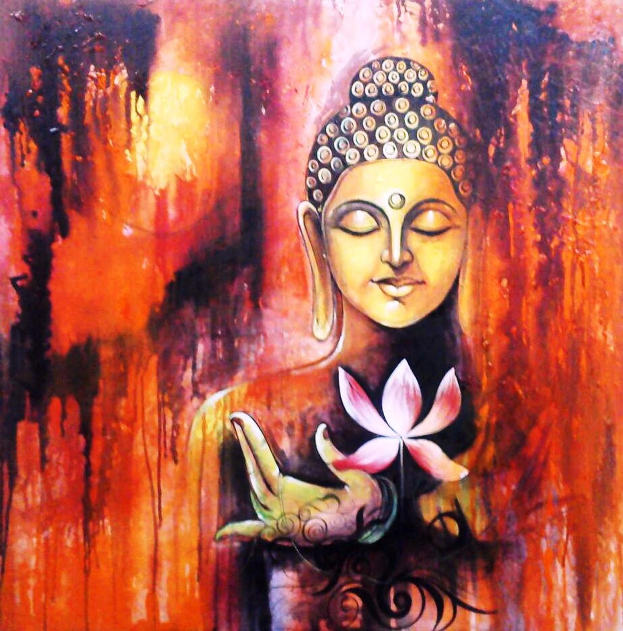 Buy Lotus Buddha Handmade Painting By Pallavi Jain Code Art 1229 2256 Paintings For Sale Online In India