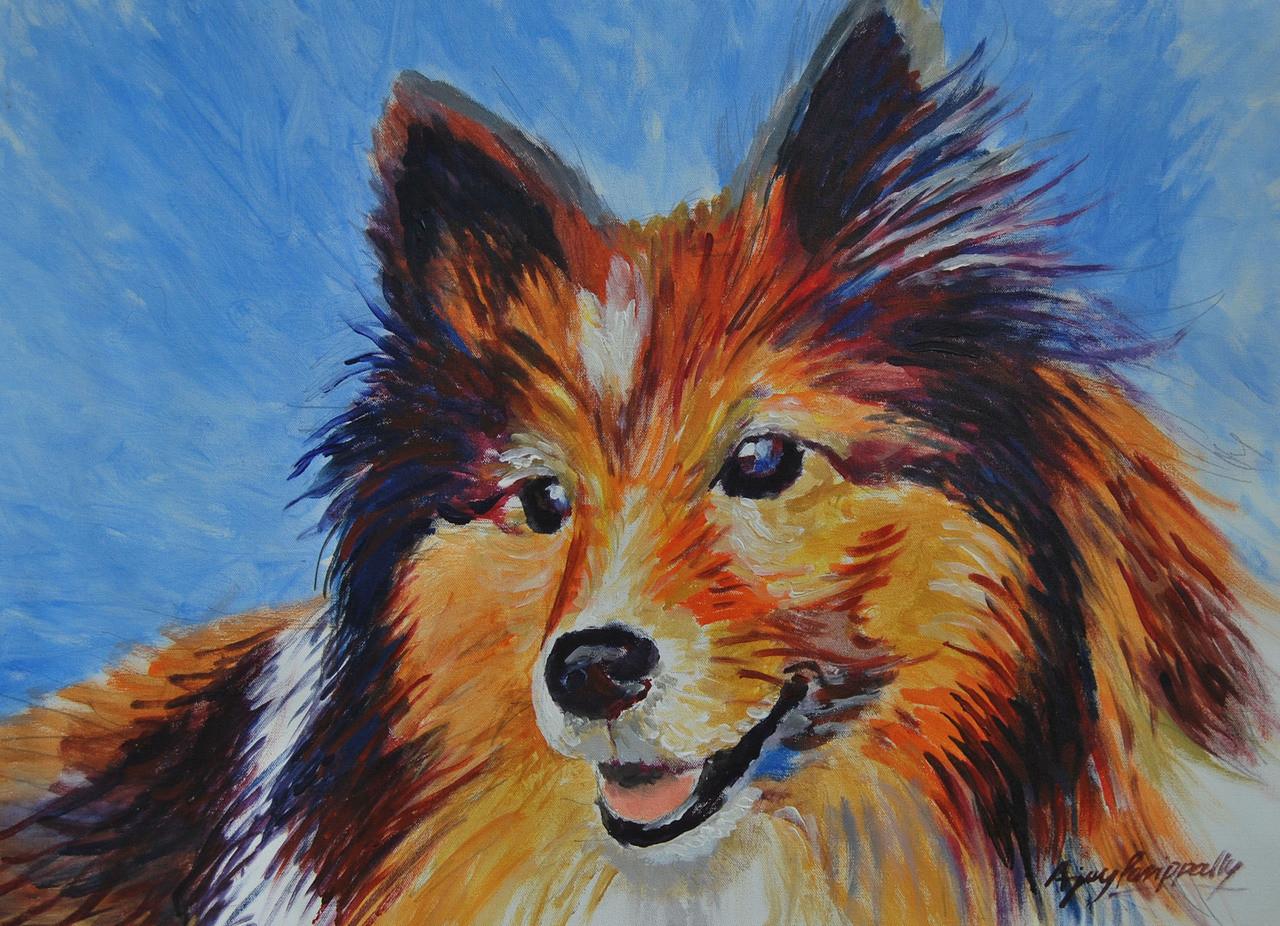 Dog Painting Artist