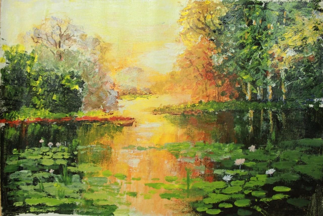 Morning Light >> Buy Morning Light Handmade Painting By Shridhana Pillai Code