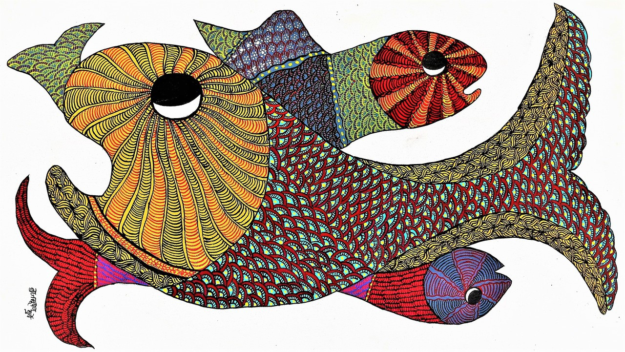 Image result for gond paintings