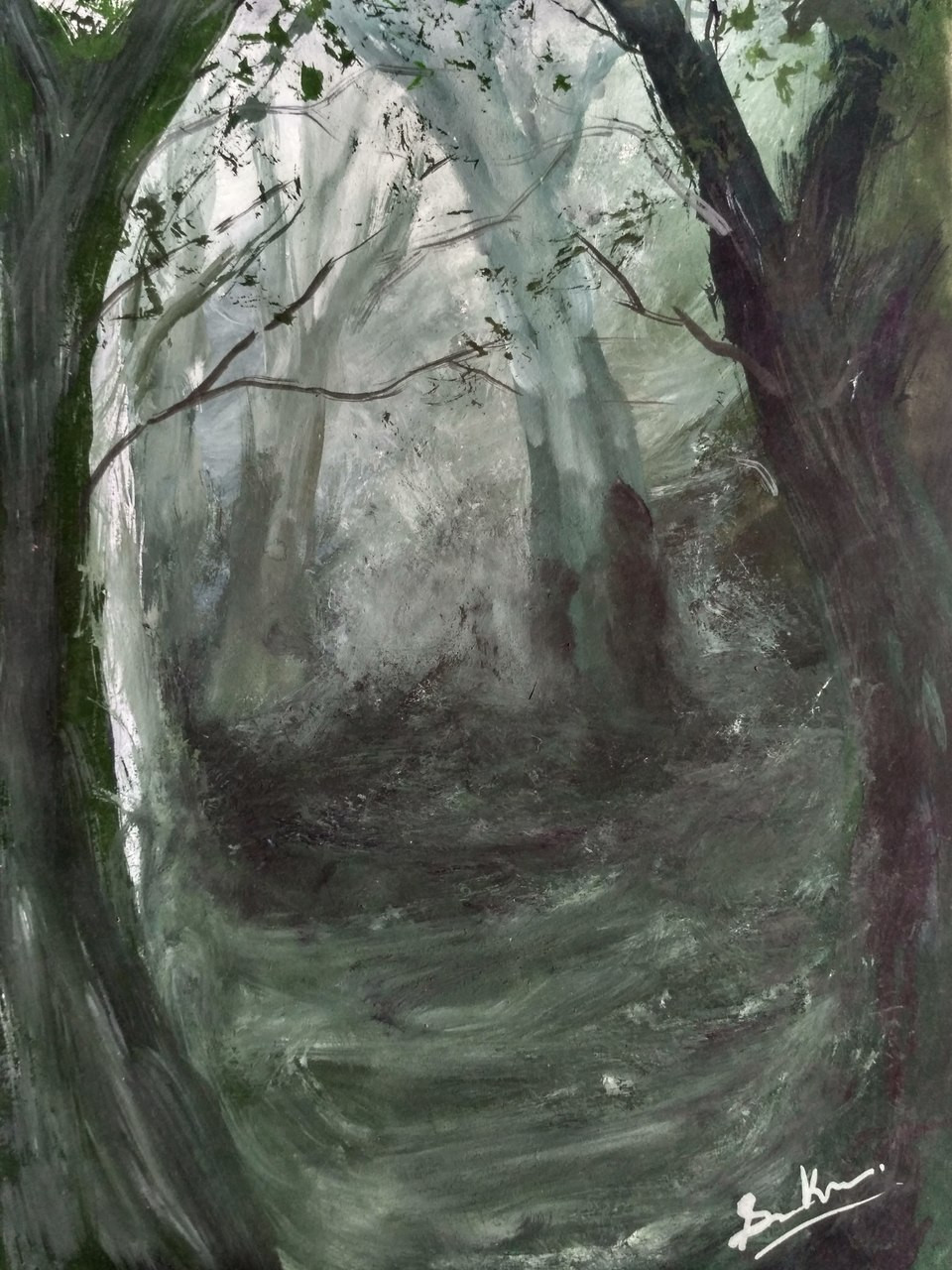 Buy The Depth Of Forest Handmade Painting By Anirban Kar Code Art 2144 17565 Paintings For Sale Online In India