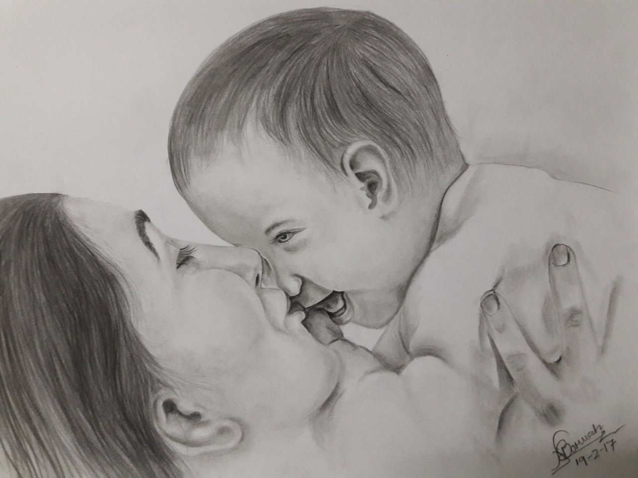 Buy Mothers Love Handmade Painting By Naruttam Boruah Code
