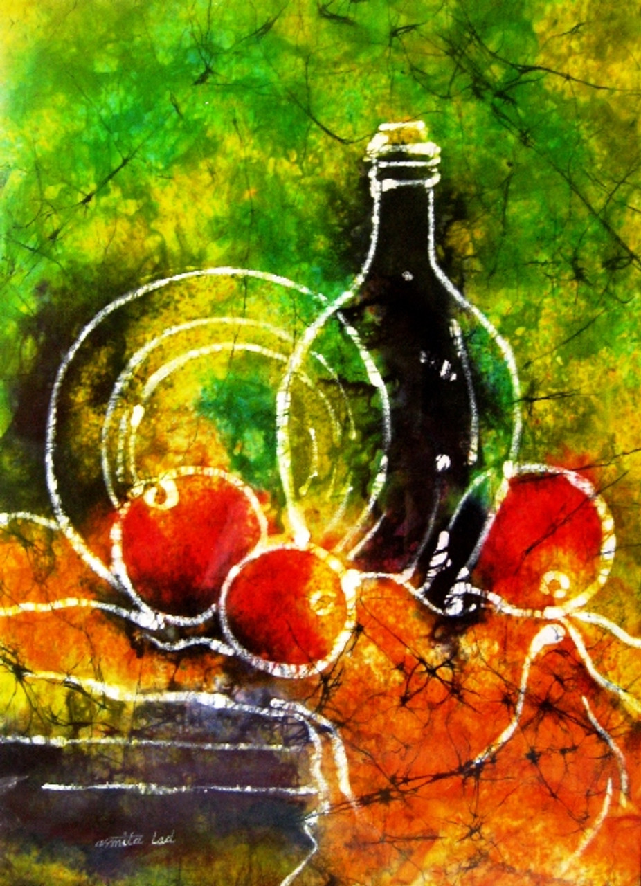 Still Life Batik 13in X 18in Canvas Boardartaald101318
