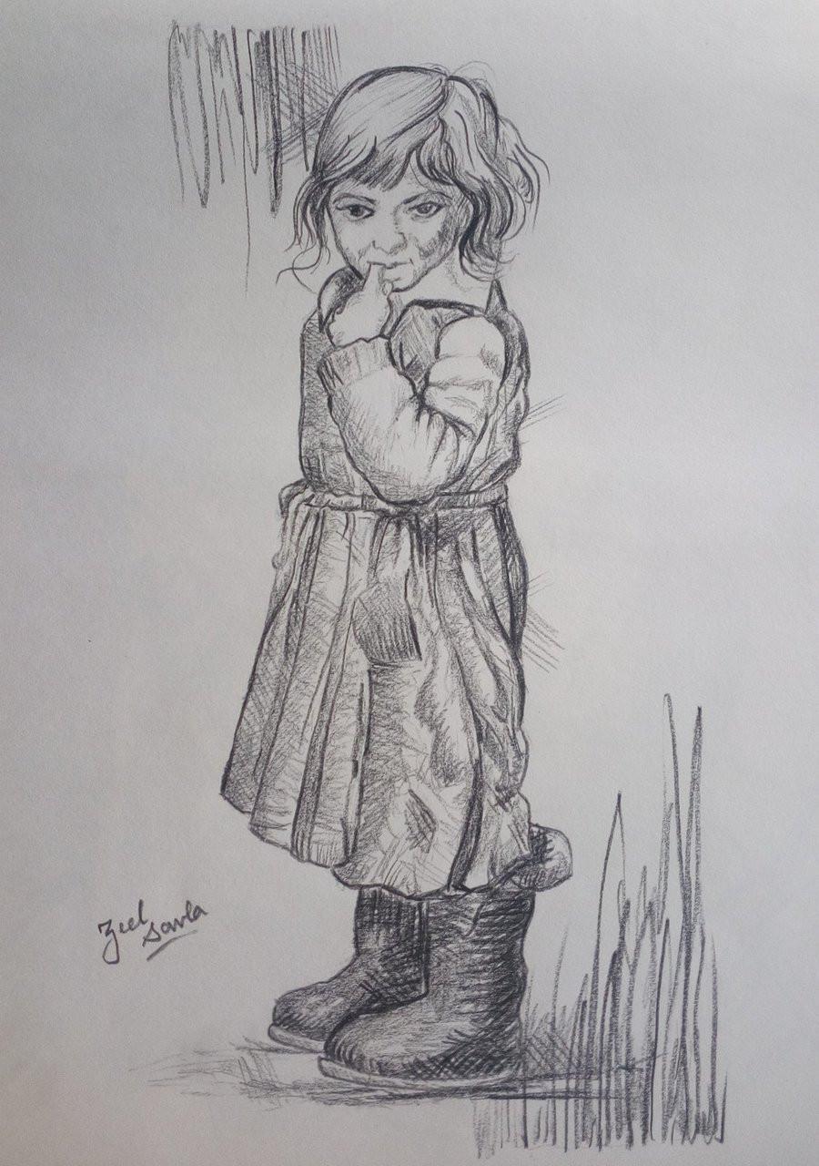Innocence art 2709 19576 handpainted art painting 10in x 14in
