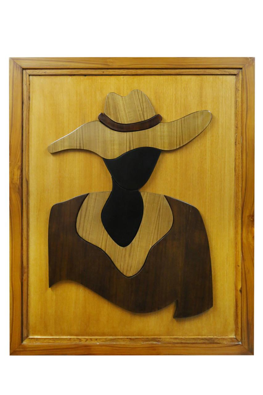 Wooden wall art wall art wooden paintings beautiful cowgirlart 3137 21057artist
