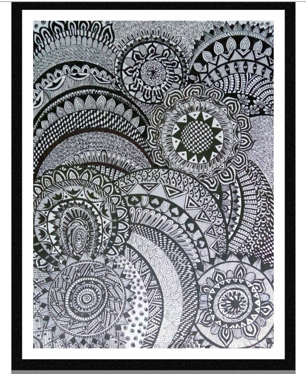Buy Mandala Art Handmade Painting By Munira Doriwala Code